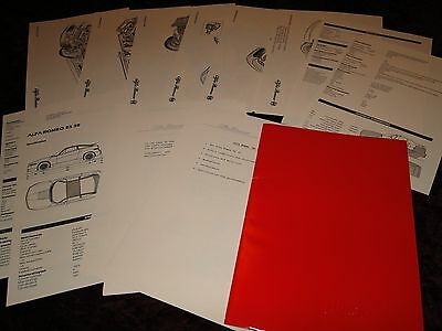Alfa Romeo SZ (ES 30) Press Booklet 1989 - ENGLISH - Very Rare