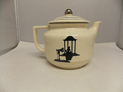 Harker Pottery Modern Age Colonial Teapot Silhouette Design