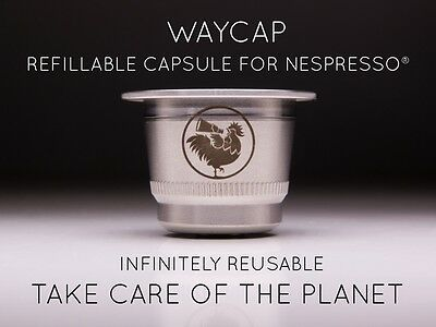 WayCap Nespresso Compatible Stainless Steel Capsule- 100% Made In Italy