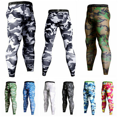 Men Sports Apparel Skin Tights Compression Base Under Layer Workout Long Pants