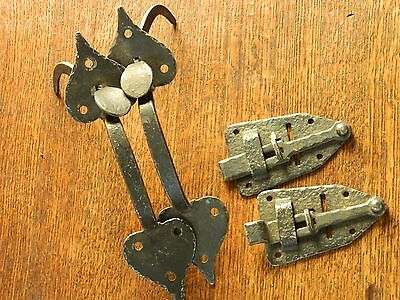 Vintage Suffolk Style Gate Latch Assembly Parts, Handles Latches Cast Iron Locks
