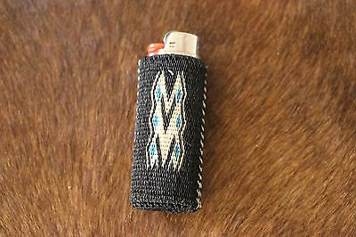 Collectible Bic Lighter Cover Western Horsehair Hitched Mens SW Handmade Gift
