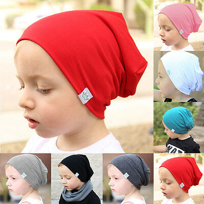 Baby Infant Toddler Kids Boy Girl Warm Cotton Knit Hat Crochet Slouch Beanie Cap
