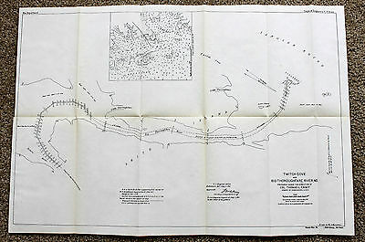 1911 Maryland Tangier Sound Map Smith Island Nig Thoroughfare River Survey