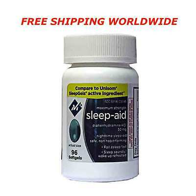 Member's Mark  Sleep Aid - 96 Softgels - FREE SHIPPING WORLDWIDE