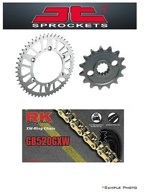 Honda CBR1000RR 06-07 JT/RK 520GXW X-ring Gold Chain and Sprocket Kit