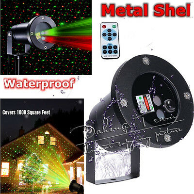 Outdoor Xmas Projector Red Green Laser Moving Lamp 20Patterns Landscape Light