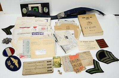 Vtg Some WWII V-Mail GI Letters Other Items NOT from same person Not all related