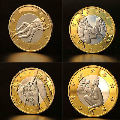 Metal Adult Sexy Designed Gold Plated Coin Decoration Collection Craft