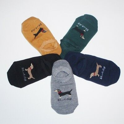 5 Pairs of Dachshund Doxie Dog Footie Socks
