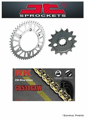Suzuki GSF1250 Bandit 07-15 JT/RK 530GXW X-ring Gold Chain and Sprocket Kit