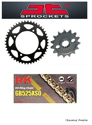 BMW F800 GS (8.5mm bolts) 08-12 JT/RK 525XSO X-ring Gold Chain and Sprocket Kit