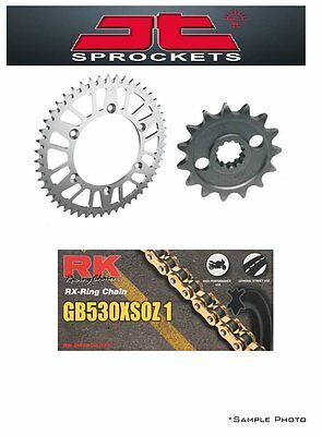 Yamaha SR500 78-91 JT/RK 530XSOZ X-ring Gold Chain and Sprocket Kit