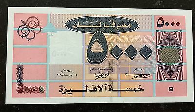 Lebanon 2008 5000 Livres Uncirculated Banknote