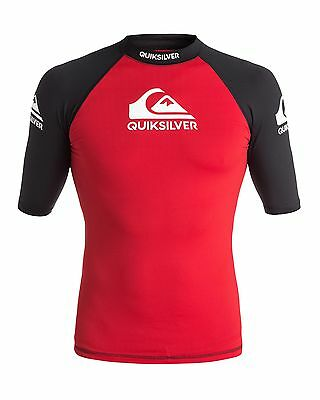 NEW QUIKSILVER™  Mens Comp Short Sleeve Rash Vest Rashie Rashvests