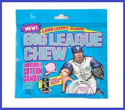 1 X BIG LEAGUE Curve ball cotton candy  USA  Chewing Gum  free postage