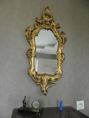 antique miror wall mirror baroque old vintage Regency GILDED WOOD french rococo