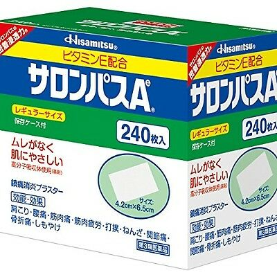 SALONPAS Hisamitsu Ae Pain Relieving Patch, 240 Patches (Regular Size) JAPAN