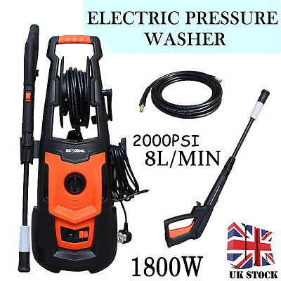 140 BAR 1800W Electric Power High Pressure Washer Car Patio Cleaner Terratek