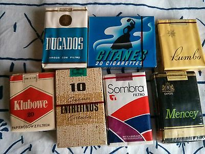 Lot PAQUET CIGARETTE TOBACCO PLEIN ANCIEN PACK TABAC