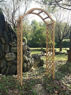 Wooden Garden Arch Outdoor Patio Sturdy Archway Pergola Trellis Timber Natural