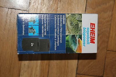 EHEIM 2628080 AQUABALL FILTER CARBON FOAM 2 Pack 2208, 2210, 2212, 60, 130, 180