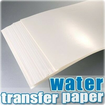 TPH A4 Inkjet Water Slide Decal Paper Craft Transfer X 20pcs Transparent