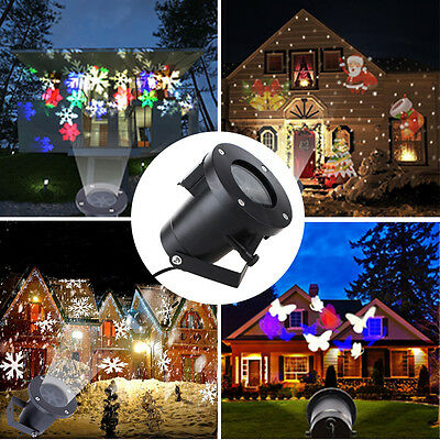 New 12 in1 Pattern Laser Projector LED Lights Xmas Outdoor Landscape Decor Lamp