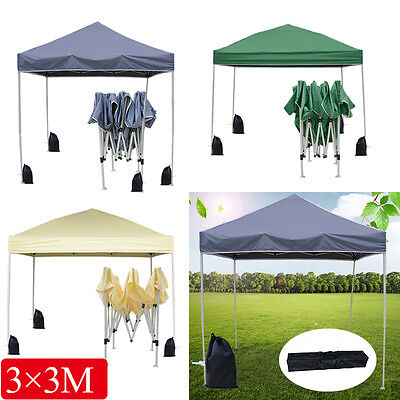3x3m Pop-up Waterproof Outdoor Garden Gazebo Party Tent Marquee Canopy 3 Colors