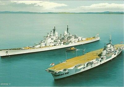 (b06) HMS Vanguard and HMS Indefatigable in Scapa Flow PC