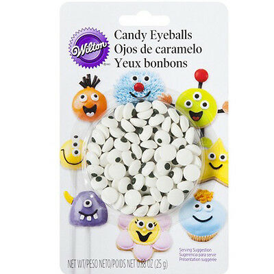 Wilton Candy Eyeballs Edible Icing Decorations Cake Toppers - Cupcakes Eye Party