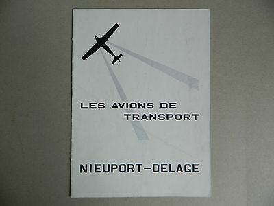 brochure Aéronautique catalogue technique Les avions transport Nieuport-Delage