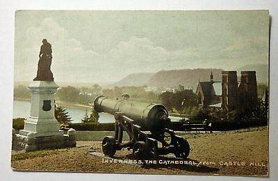 Vintage Postcard, Inverness, The Cathedral from Castle Hill.
