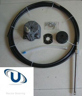 New 13Ft~3.96 Boat Steering Helm System Quick Connect Steering Kit