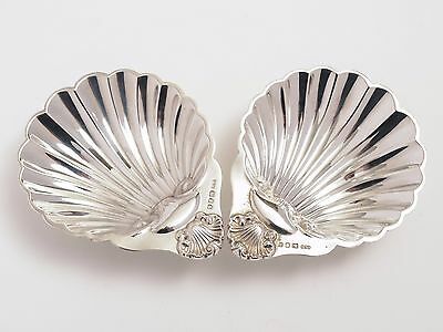 Pair of Vintage Silver Shell Shaped Butter Dishes