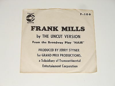 "The Uncut Version - 7"" PROMO Single - Frank Mills - HAIR Musical - Hey Jane"