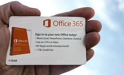 Office 365 Home Subscription 1 user / 1 Year For 5 PC's or Mac's