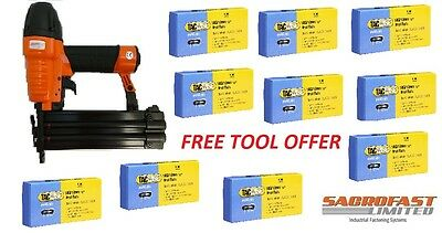 Free Tool With 10 Boxes (1 Carton/50,000 Brads) Tacwise 18 Gauge Brad Nails