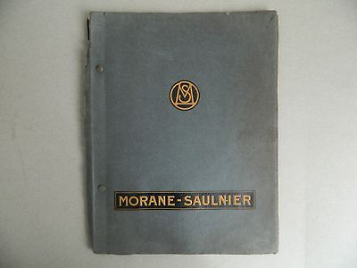 aéronautique Avion Morane-Saulnier Catalogue de vente 128 pages illustré 1930