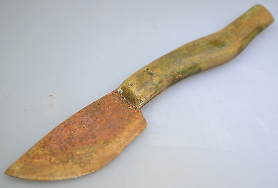 Roman Iron Knife with Bronze Handle