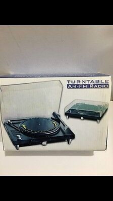 VINTAGE NOVELTY TURNTABLE RADIO  WITH ORIGINAL BOX  AM-MW-FM 1970s-1980s