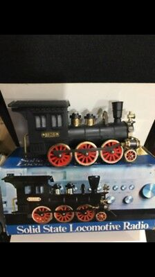 VINTAGE NOVELTY RADIO IN A SHAPE OF  LOCOMOTIVE  AM-(MW) With Box