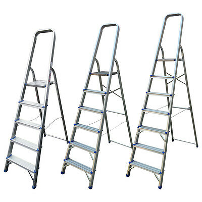 Aluminium Step Ladder 5 6 7 8 Step Stepladder Lightweight Platform Ladders New