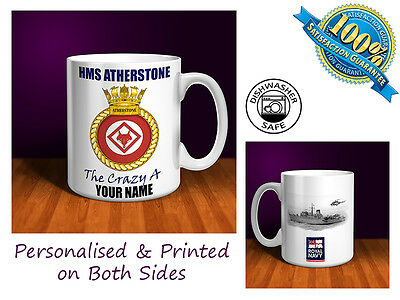 HMS ATHERSTONE Personalised Ceramic Mug Gift Royal Navy (MN003)