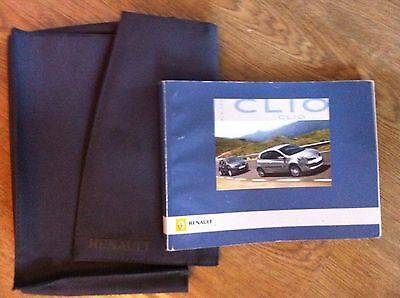 RENAULT CLIO 3 3rd  GEN OWNERS  MANUAL / HANDBOOK / WALLET 2005 - 2014