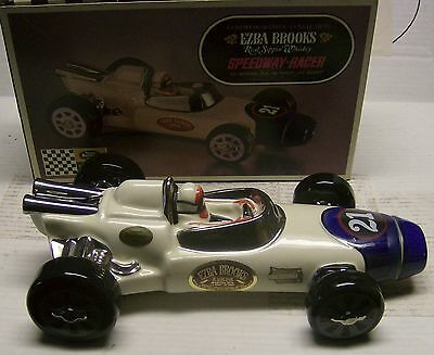 #21 Speedway Sprint Racer Decanter by Ezra Brooks Whiskey in 1970 with box
