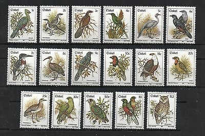 [BR0025] Ciskei 1981-90 Birds (17 Stamps) Issue MNH