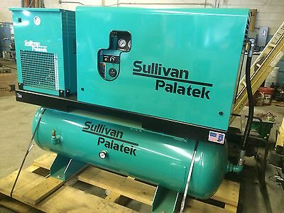 New 10 hp Sullivan-Palatek rotary screw  compressor with refrigerated air dryer