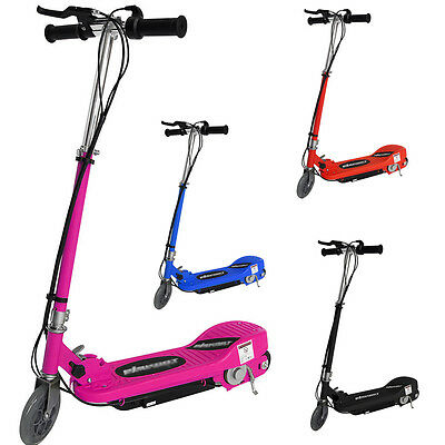 New Electric E Scooter Ride on Rechargeable Battery Height Adjustable 120W 24V