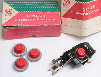 Singer Auto Zigzagger Attachment 4 Heads 161103 for Lock-Stitch Sewing USED C12H